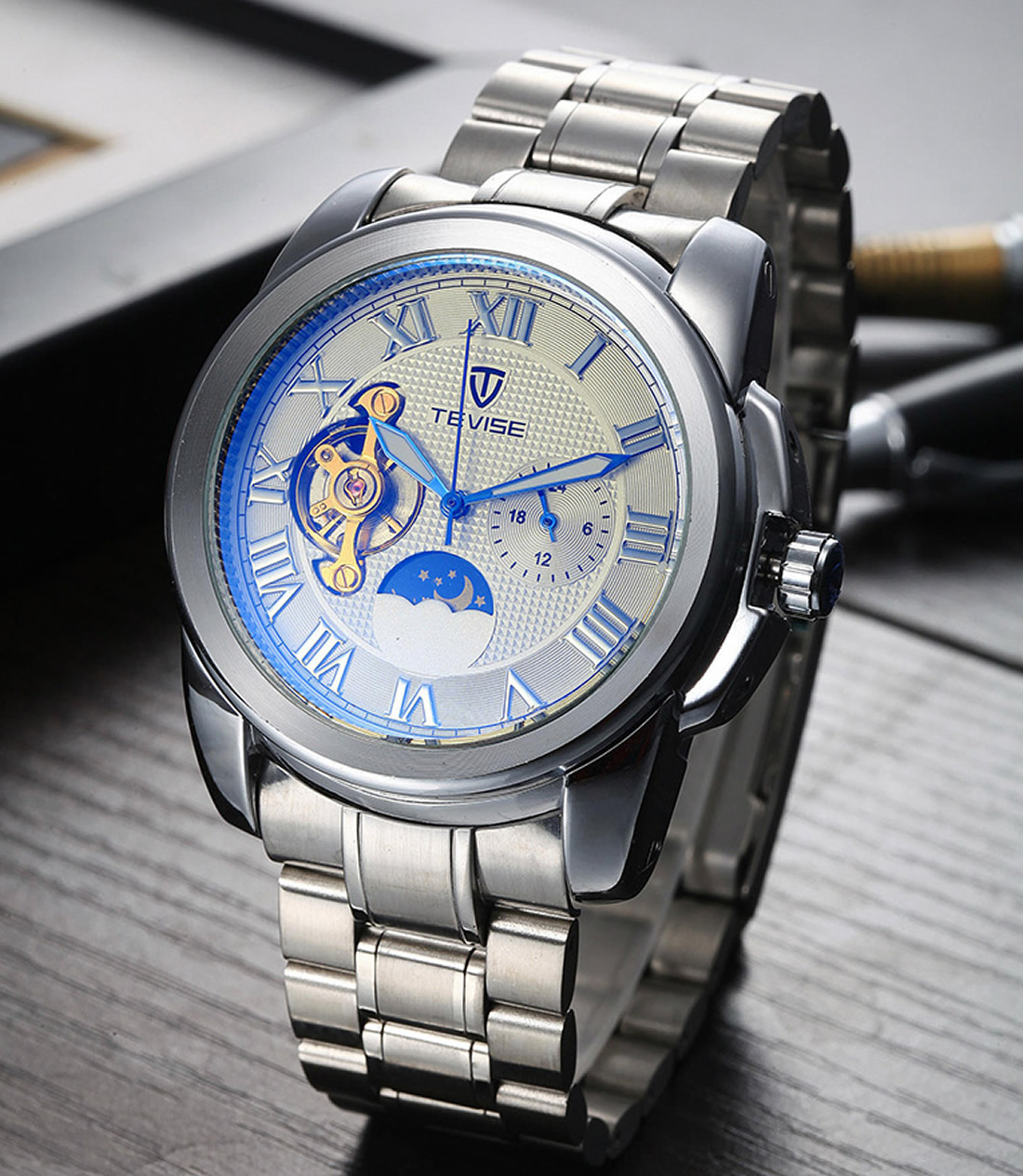 Top Brand Luxury Men Watch Luxury sport Quartz 30M waterproof watches male stainless steel new auto date wristwatches relojes skmei luxury brand stainless steel strap analog display date moon phase men s quartz watch casual watch waterproof men watches