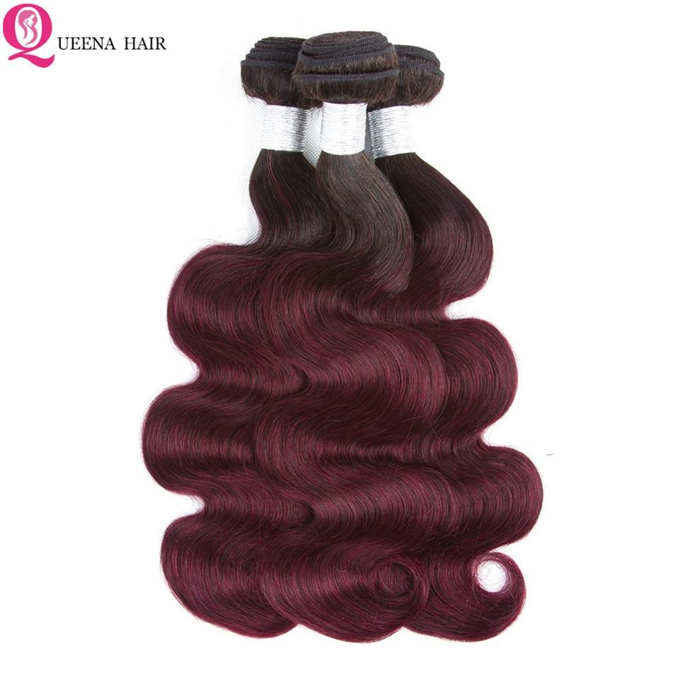 Top 1B 99j Ombre Brésilien Vague de Corps Cheveux Armure Faisceaux Première Vierge cheveux 3 ou 4 Faisceaux Ombre Extensions de Cheveux très Doux En Gros - 6