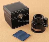 All Metal Cloth Magnifying Glass 10x with Scale and 12 LED Light Pocket Microscope for Antique Jewelry Money Detector