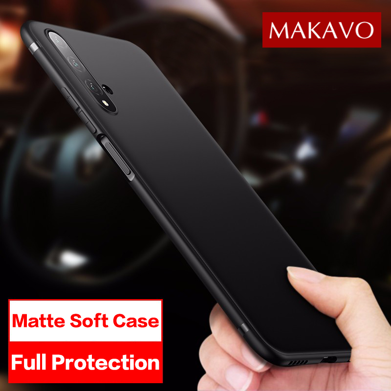 MAKAVO For Huawei Honor 20 Case Slim Matte Soft Cover Cases For Huawei Honor 20 Pro Honor 20s Honor 20 Lite Phone Cases image