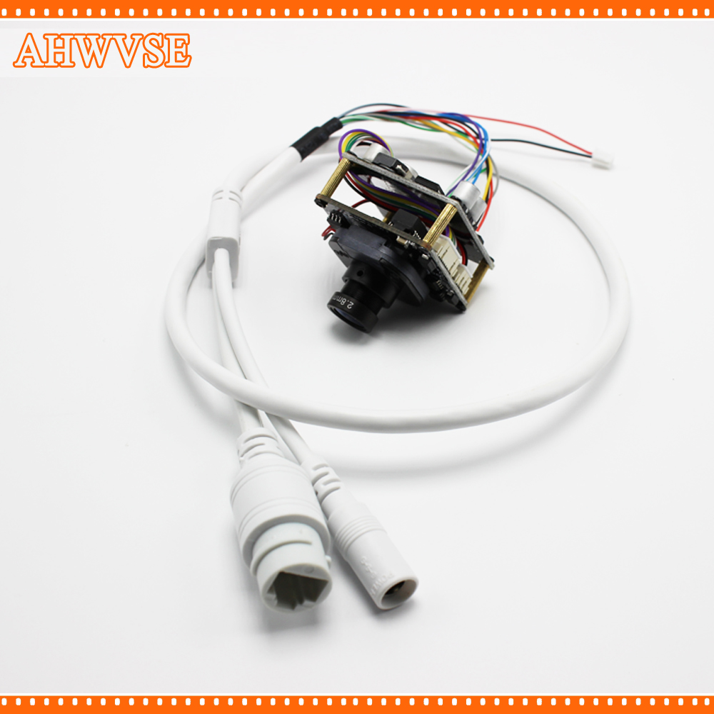 AHWVSE 2pcs/lot POE IP Cam 2MP POE Security IP Camera Indoor with LAN Cable ip cam