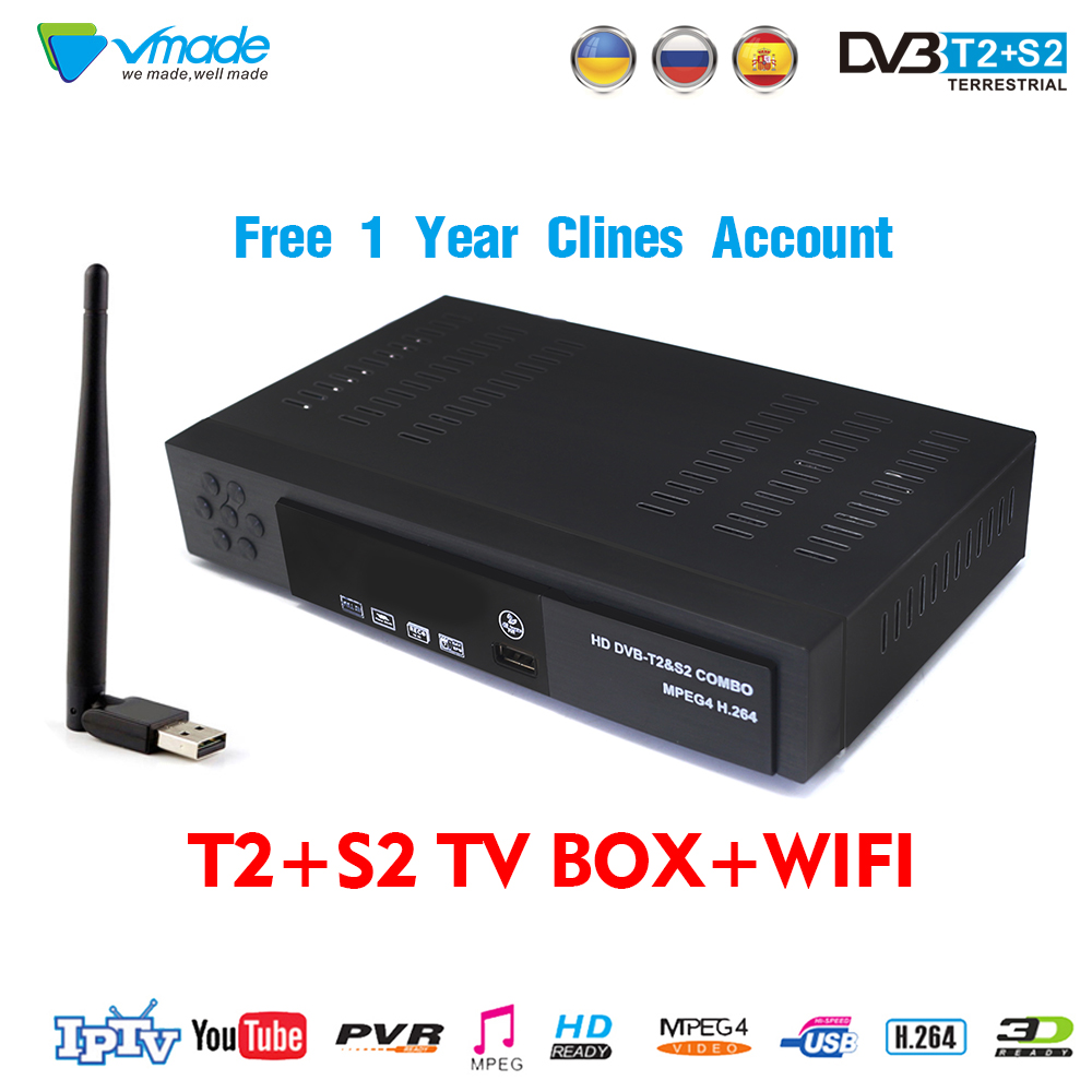 1 year Europe 7 Clines Server CCCAM DVB T2+S2 8902 H.264 MPEG2/4 satellite receiver Full HD 1080P TV BOX decoder cable receptor