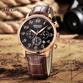 MEGIR Men Watch Luxury Military Chronograph Quartz Watch Men Fashion Casual Leather Wristwatch Waterproof Relogio Masculino 2022