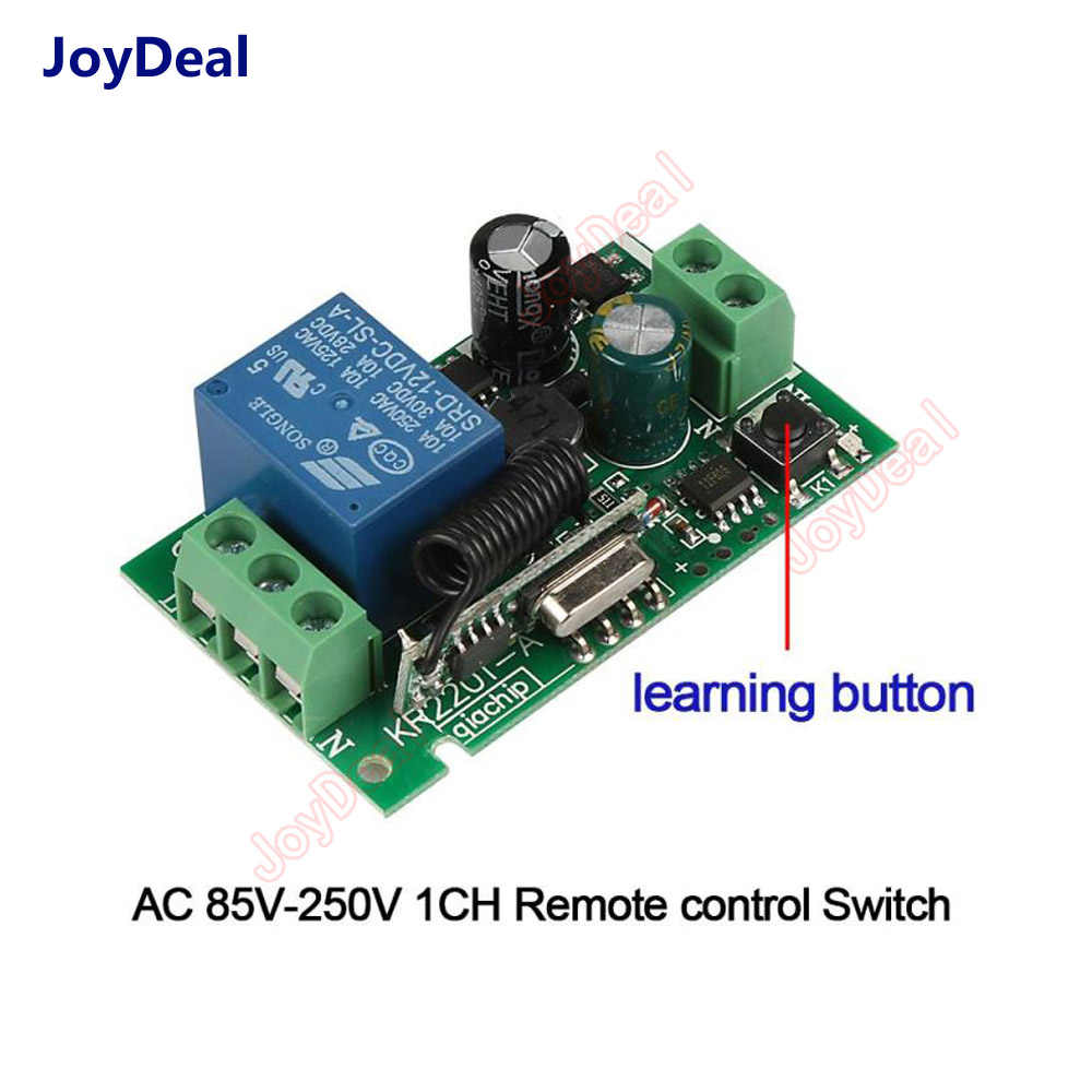 TOOGOO 433Mhz Luz Interruptor Inal/ámbrico Empuje Inteligente Rf Control Remoto Ac 110V 220V Receptor 50M Bot/ón Del Panel L/ámpara De Dormitorio 1000W 2 Grupos 2 Receptores