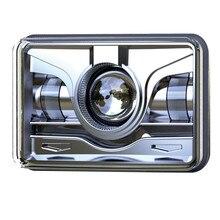 4 pcs x New 4×6 Sealed Beam Rectangular LED Headlights Replacement 6″ X 4″ LED Projector Headlight HIgh / Low Beam