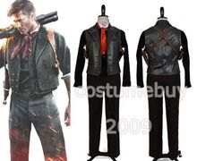 Bioshock Infinite Booker DeWitt Leather Black Shirt Vest Pants For Men Movie Halloween Cospaly Costume Free Shipping