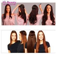 Fish Line Hair Brazilain Virgin Hair 1Pc Fish Line Miracle Hair Extensions 18 inches Straight Human Hair Extensions #1 1B 6# 613