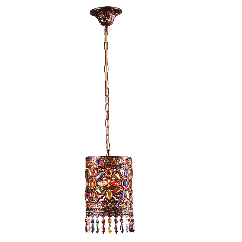 LED Pendant Lamp Vintage Color Glass Pendant Lights