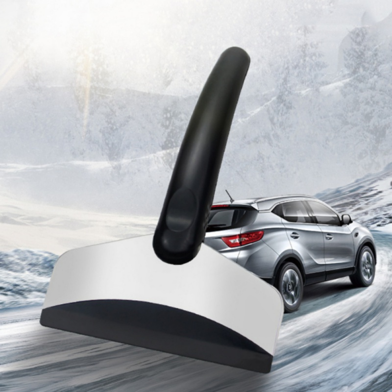 Car Ice Scraper Stainless Steel Windshield Snow Removal Scraper Snow Removal Longhandle Softness And Elastic Automotive Care