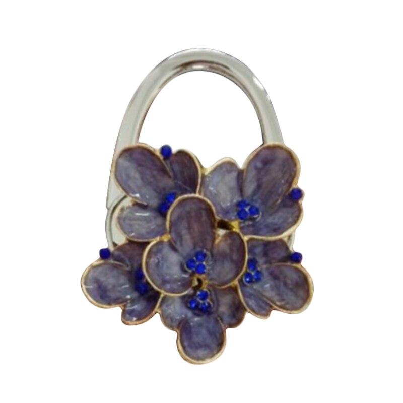 New Style  Lovely Colorful Folding Handbag Purse Tote Bag Hanger Decor Holder Table Hook For Gift