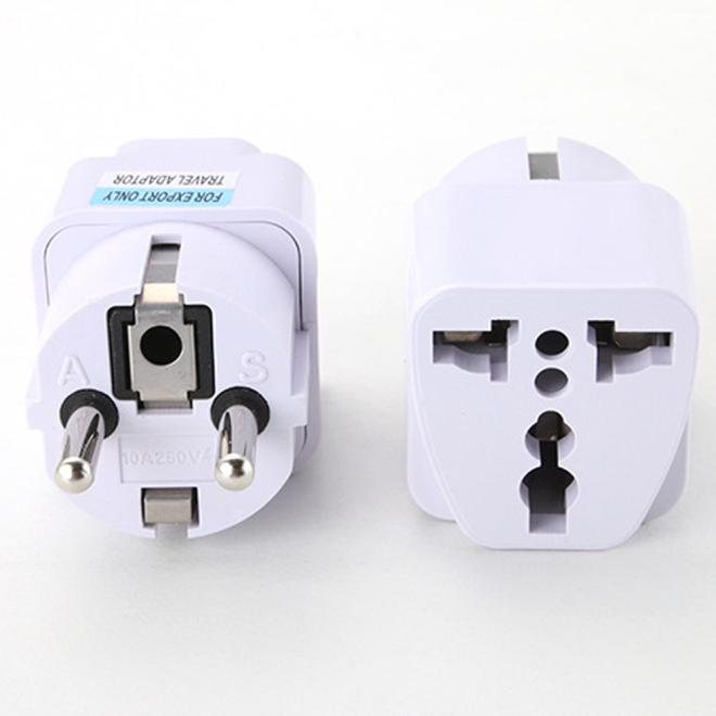 EPULA Electrical Socket Universal UK US AU to EU AC Power Socket Plug Travel Charger Adapter Converter 220V 10A Socket