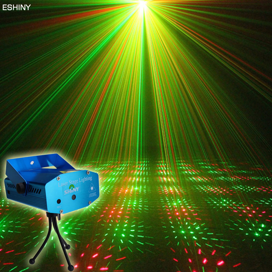 ESHINY Mini R&G Laser Full Stars Sky Projector DJ light Dance Disco Home Party Shop Xmas Stage Lighting Lights show N1Y1