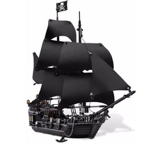 Lepin 16006 804Pcs Pirates Of The Caribbean The Black Pearl Ship Model Building Kits Toy Compatible Bricks Educational Toys