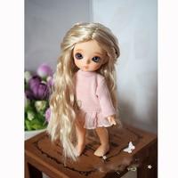 Bybrana Fairy wave roll 2 colors bjd hair 1/8 1/12 small head bjd wig for dolls