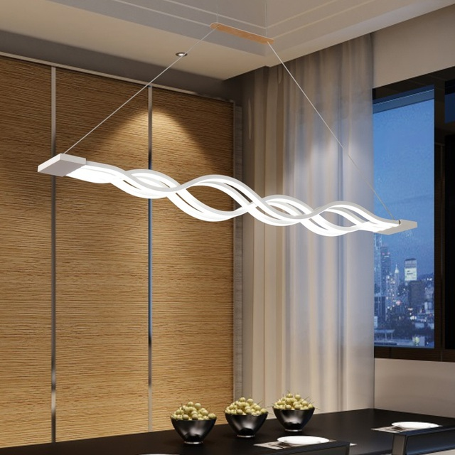 Modern LED Chandeliers 60cm 100cm 120cm  white acrylic for dinning room bar study room hanging chandelier led lights AC90-260V