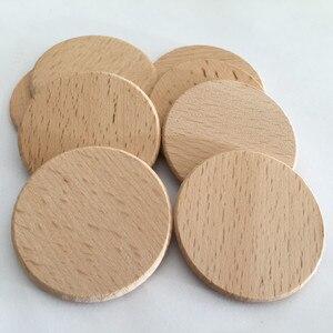 Image 4 - Rodajas de madera Natural 100 Uds., manualidades de madera de 1,96 pulgadas, Rodajas de madera redondas naturales, bricolaje para mesa de fiesta de cumpleaños, números, pintura con motivo de boda