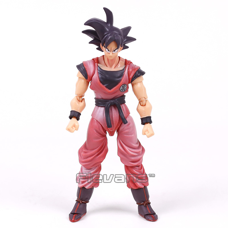 SHF S.H.Figuarts Dragon Ball Z Son Gokou Goku Kaiohken Ver. PVC Action Figure Collectible Model Toy 16cm shfiguarts anime dragon ball z son gokou movable pvc action figures collectible model toys doll 18cm dbaf094