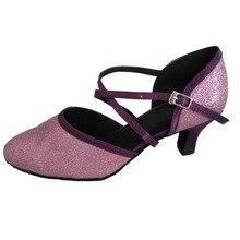 TPS Purple Satin /& Glitter Latin Ballroom Salsa Custom-made Dance Shoes D764