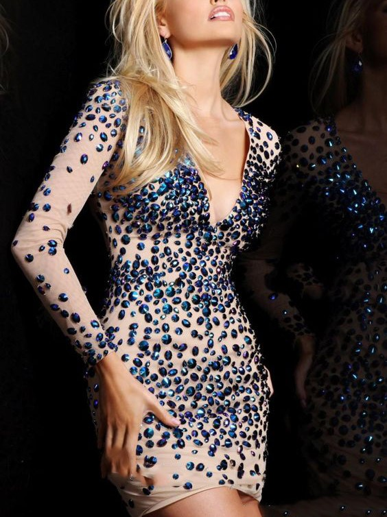 1Sexy-Sequins-Sleeve-V-Neck-Cocktail-Dresses-2016-New-Style-Mini-Short-Party-Dresses-With-Ctystal