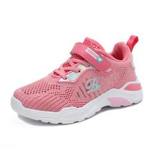 New Children Shoes Fashion Kids Soft Bottom Air Mesh Sport Sneakers Girls Spring Summer  Breathable Toddler Pink Black Red