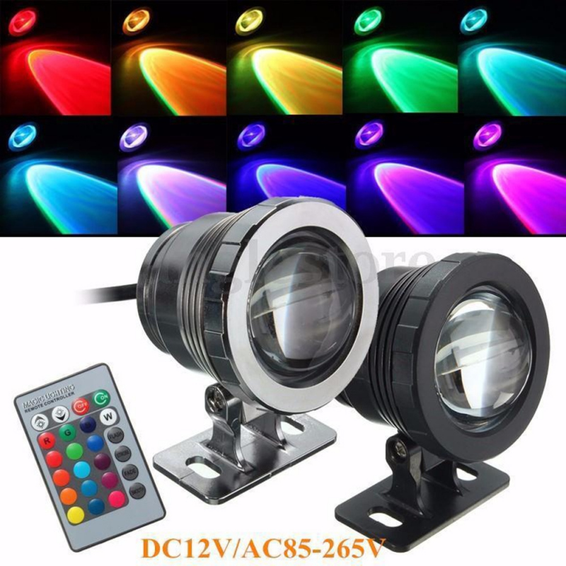 Stainless Steel 12v Dc 9w Submersible Underwater Koi Pond Led Lights Ip65 Red Yellow Blue Green Warm Cool White Outdoor Lamp Outstanding Features Led Underwater Lights
