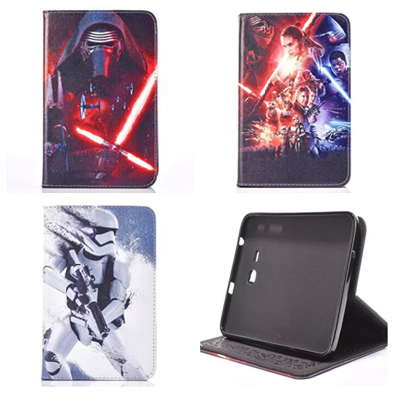 Anime Star Wars Stormtrooper Black Darth Vader PU Leather Case Cover For Samsung Galaxy Tab E 9 ...
