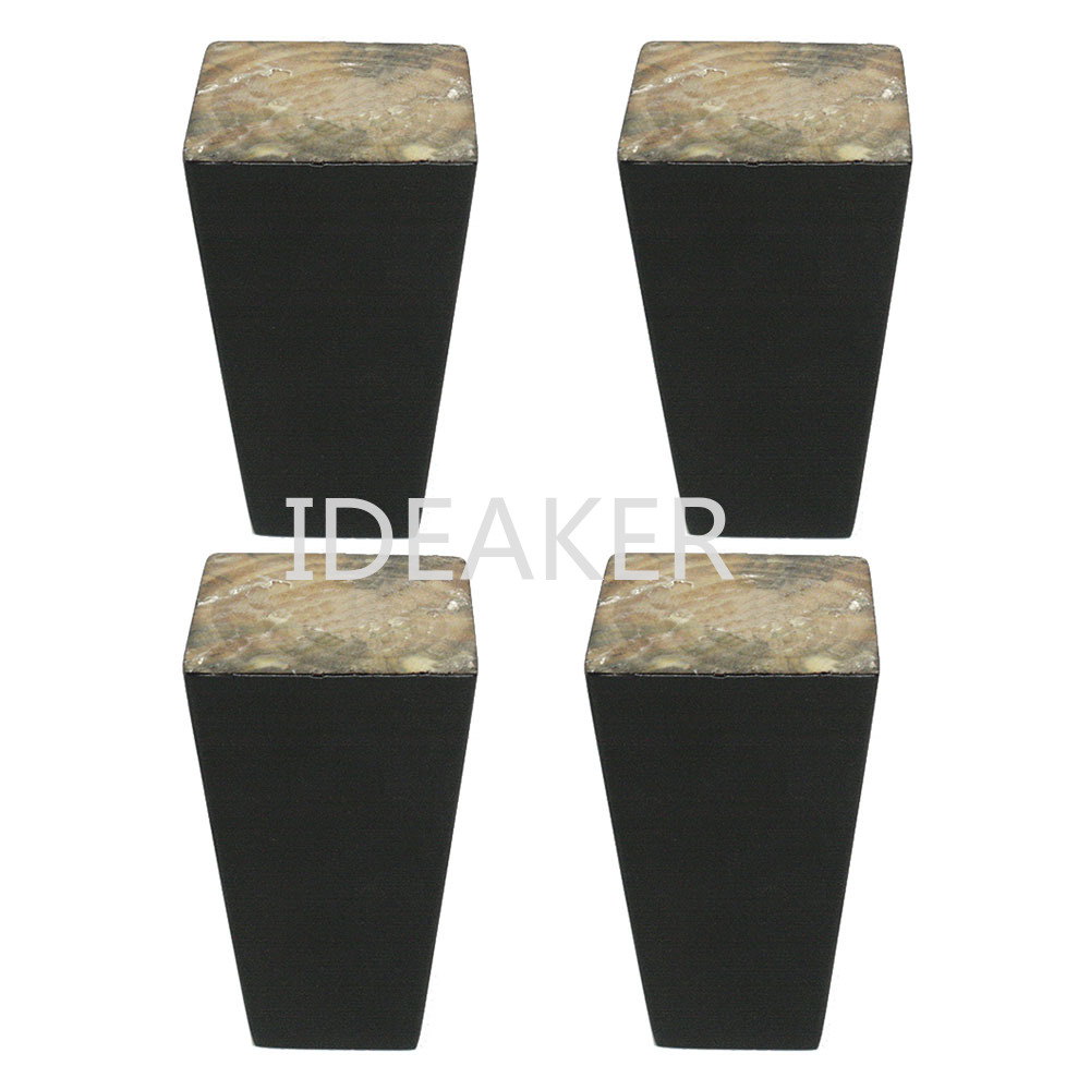 4PCS 6x10x3.8CM Furniture Legs Wooden Furniture Feet Cabinet Table Feet With Iron Pads Gaskets Screws
