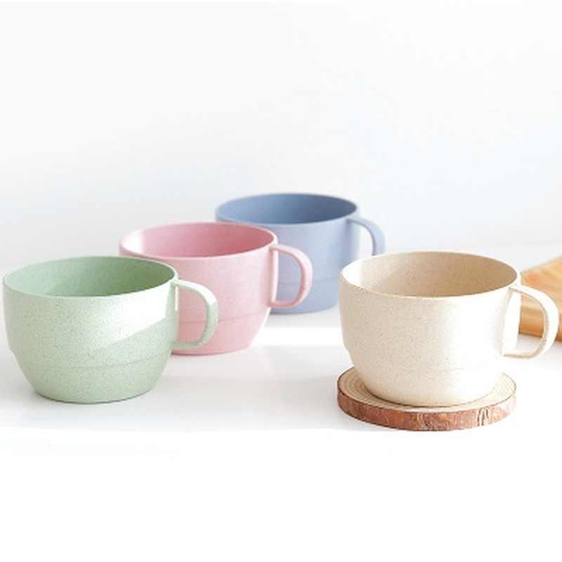 Пшеничная соломенная молочная чашка в европейском стиле, кофейная чайная кружка, простая Питьевая чашка для завтрака, экологически чистый стакан для напитков