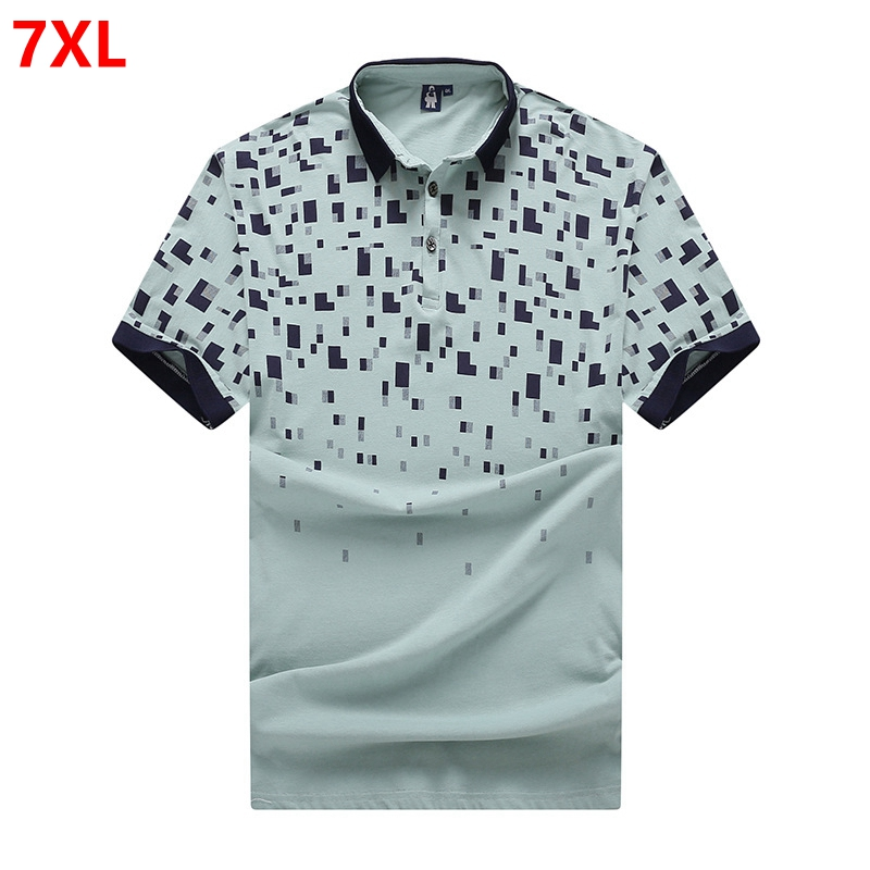 Summer lapel plus fertilizer increase code short-sleeved   Polos   male college short-sleeved   POLO   7XL 140kg
