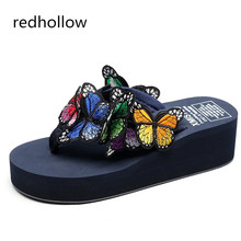 Summer Non-Slip Sandals Female Slippers for Women High Heels Sandals Platform Indoor Flip Flops Slippers Sandals Fashion Size 41 big bowtie woman beach flip flops summer sandals slip resistant slippers platform sandals size 34 40