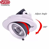 1pcs Dimmable LED Trunk Downlight COB Ceiling 10W 12W 15W 20W30W Adjustable Recessed Super Bright Indoor