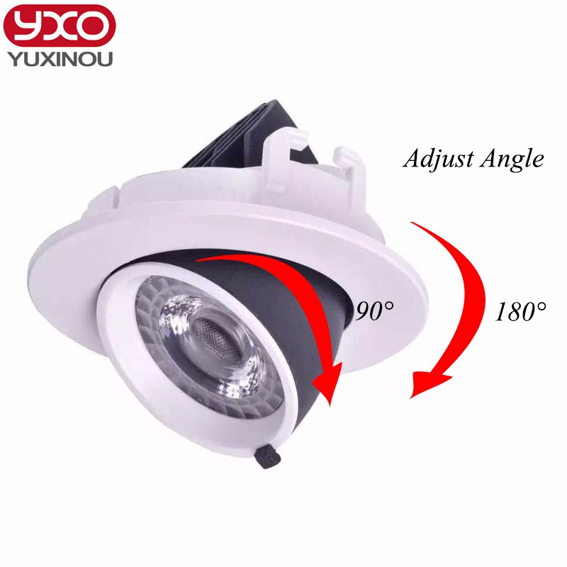 1pcs Dimmable LED Trunk Downlight COB Ceiling 10W 12W 15W 20W30W Adjustable recessed Super Bright Indoor Light cob led downlight tpd1047f automotive computer board