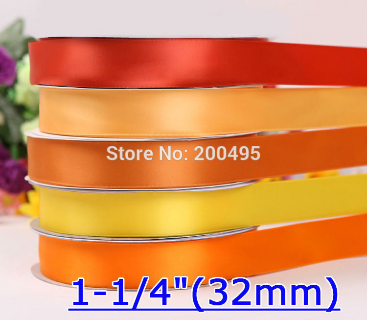 "[IuBuFiGo] 1-1/""(32 мм) двусторонняя атласная лента для свадьбы сатин 100 ярдов/рулон"