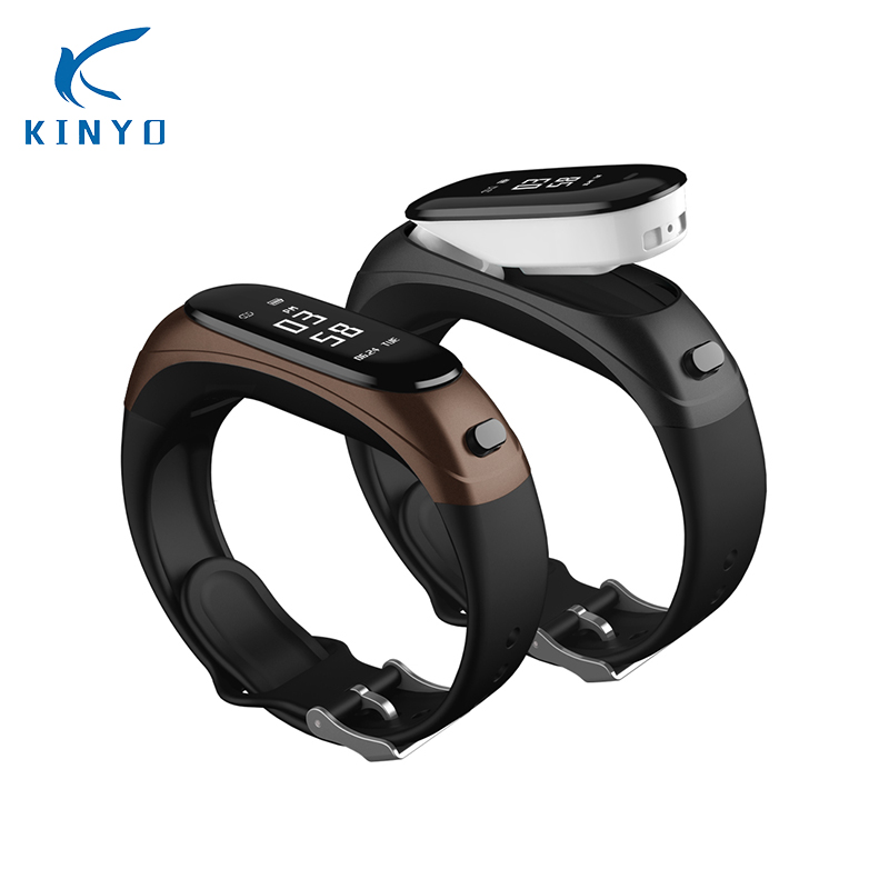 Kinyo V08 Wireless Earphone Smart Band 2 in 1 Bluetooth Headset Wristband Heart Rate Blood Pressure Monitoring Smart Bracelet newest v08 wireless earphone smart band 2 in 1 bluetooth headset wristband heart rate blood pressure monitor smart bracelet