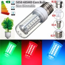 5050 SMD 48 LED Light Bulb E27 E14 G9 B22 3 5W