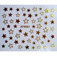 Fashion beauty star gold 3D nail sticker tools XF6061