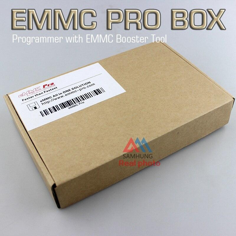 Set completo con la scatola al minuto Originale EMMC Pro box dispositivo programmatore con EMMC Booster cavo Strumento tutto in un'unica soluzione agente