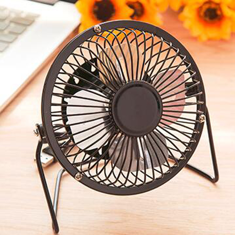 USB Mini Fan Powered Notebook Desktop Cooling Fan Cooler Metal Air Conditioning Appliances For PC Laptop Computer Black 4 Inchs evercool usb cooling cooler fan for laptop black silver