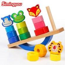 Balanza de madera  para aprender los colores