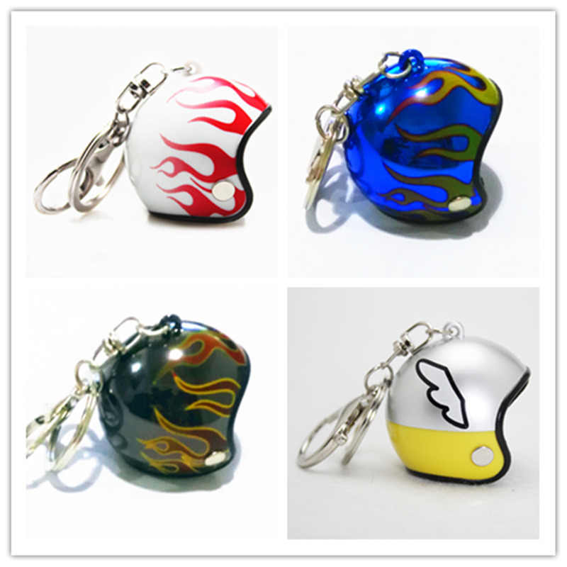 2019 New Motorcycle Helmets Key chain Women men Cute Safety Helmet Car Keychain Bags Hot Key Ring gift Jewelry wholesale