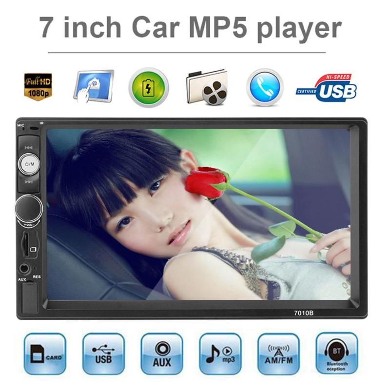 7 inch HD MP5 Player 2 Din Car Radio Touch Screen Digital Display Bluetooth Multimedia USB 2din Autoradio Car Backup Monitor New