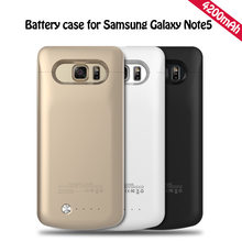S6 Silm สำหรับ samsung Galaxy Note 5 กรณีสำหรับ Galaxy S7 S6 Edge Plus Pack power Bank Case(China)