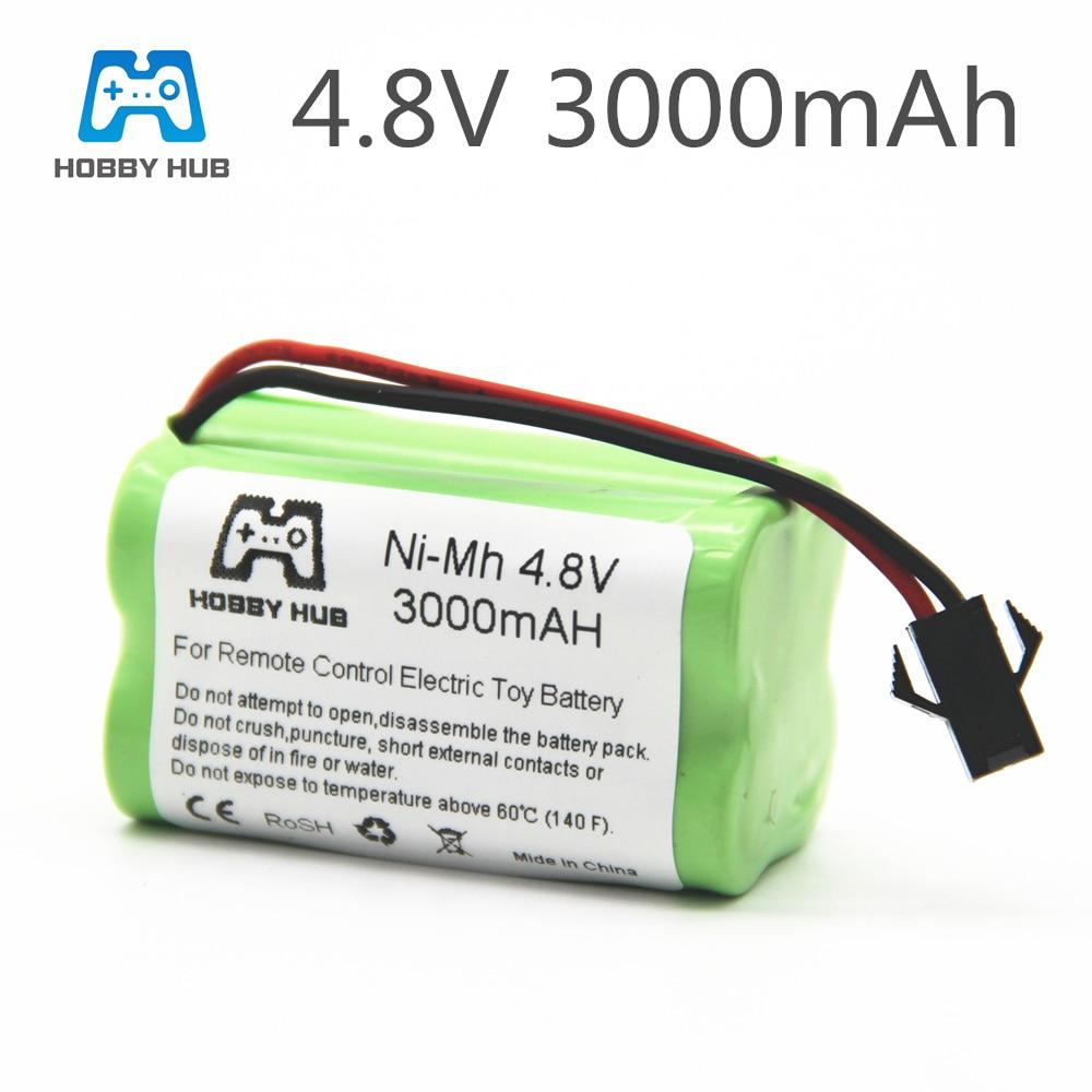 1/2/4pcs NI-MH 4.8V 3000mah rechargeable Battery For RC cars ship Tanks robot 3000 mah batteries for RC toys 4.8 v battery group