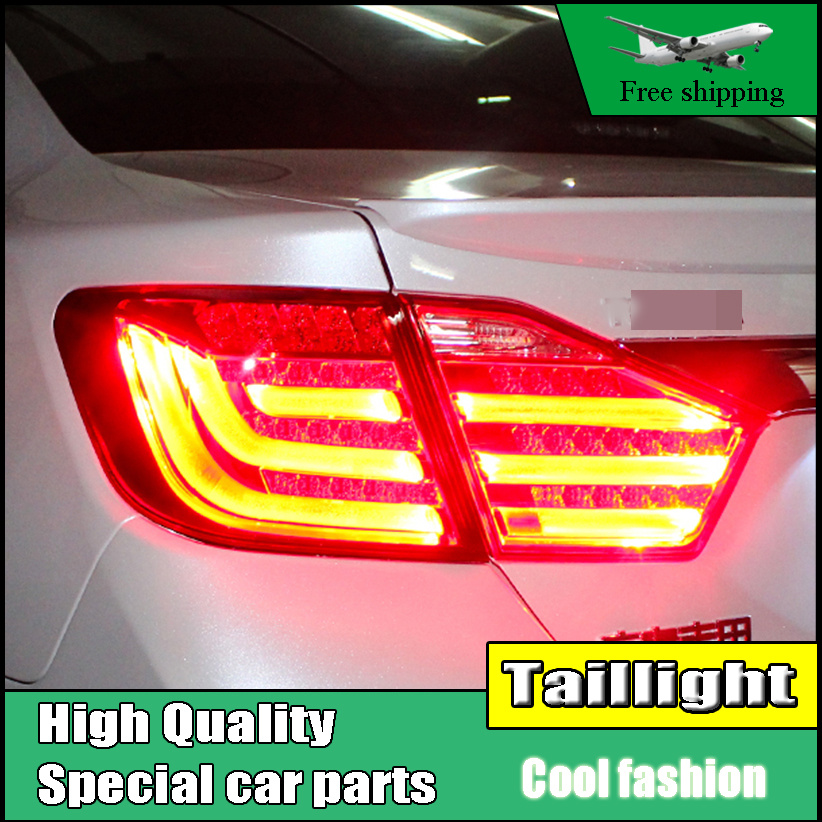 Car Styling Tail Lamp For Toyota Camry V50 Tail Light Assembly 2012 2013 2014 Rear Lamp Brake+Reverse+Signal Taillight car styling rear wing trunk spoiler decorative cover for europe toyota camry 2012 2013 2014 2015 abs auto accessories