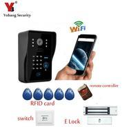 Wireless WiFi Video Door Phone Doorbell Intercom P2P Cloud With Magnetic Electronick Lock RFID Keyfobs Remote