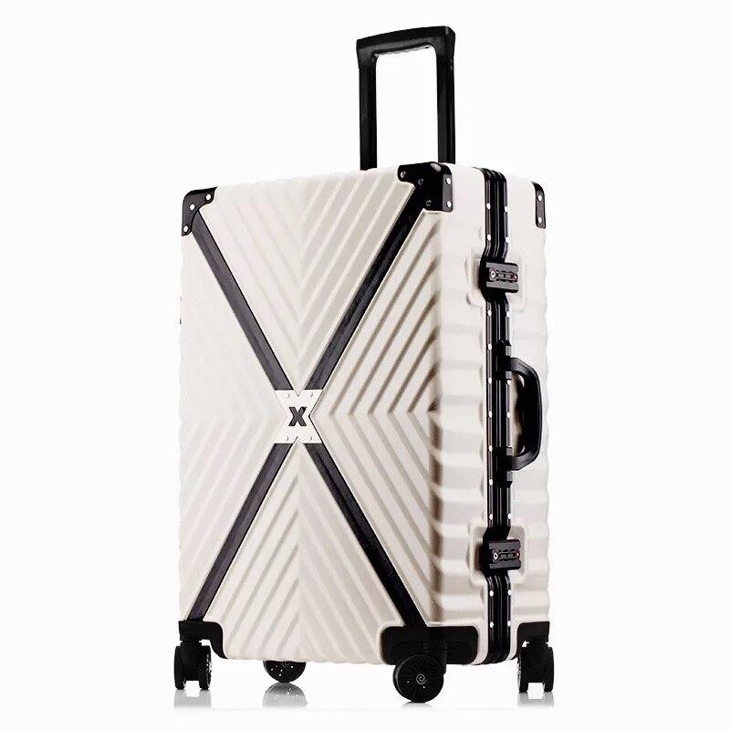 Ausdauernd Klassische Roll Gepäck Marke Tragen Auf Box Männer Reise Koffer Frauen Mode Trolley Gepäck Aluminium Rahmen Koffer
