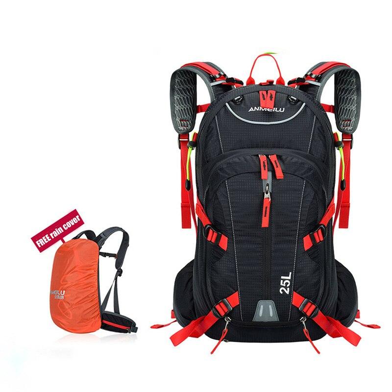 ANMEILU 25L sac à dos de cyclisme unisexe étanche sac à dos de sport de plein air avec housse de pluie et housse de filet de casque pour sac de randonnée aquatique