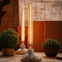LumiParty Classical Edison Bulb E27 8W Filament Luminaria Tubular Nostalgic Filament Incandescent Antique Light Bulb Home