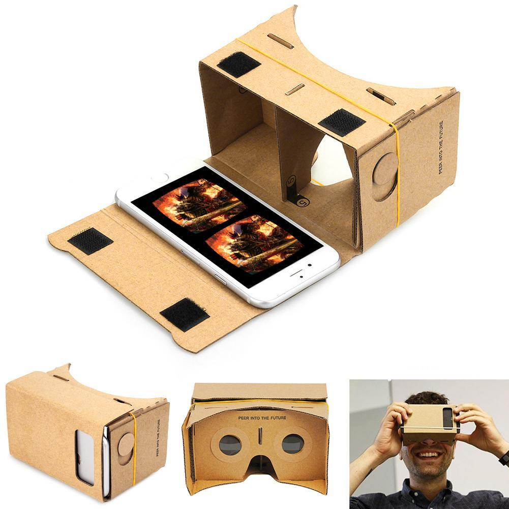 DIY Magnet Google Cardboard Virtual Reality VR Mobile Phone 3D Viewing Glasses For iphone 5s 6s 7 7p IOS Android Samsung #2 APE