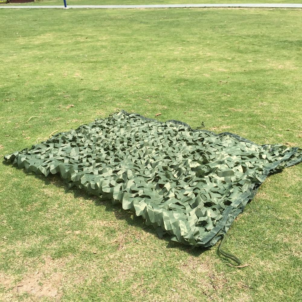 5x8m Sun shelter Green Camo Net Camping sunshade net Military Camouflage Net for Hunting Hiking fishing